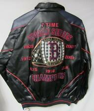 Boston Red Sox M - 4XL 7 Time World Series Champs Faux Leather Jacket bb 60 - 67