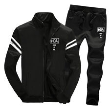 new style Mens Fleece Tracksuit Sport Suit Jogging Bottoms Jacket and Pants
