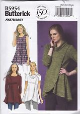 Butterick Sewing Pattern Misses' Close Fitting & Flared Tunic  Sxm - Xxl B5954