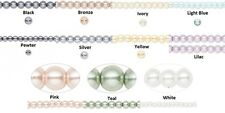 Glass Pearl Beads - Round - 4mm 16 inch strand - 11 Color Choices fnt