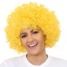 ADULTS YELLOW AFRO WIG 1960'S 1970'S DISCO HIPPY FANCY DRESS CLOWN FUNKY HAIR