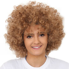 ADULTS BROWN AFRO WIG 1960'S 1970'S DISCO HIPPY FANCY DRESS CLOWN FUNKY HAIR