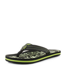 Boys Kids Child Reef AHI Glow Green Glow in the Dark Fun Beach Flip Flop UK Size