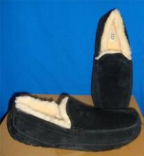 UGG Australia Men's ASCOT Black Suede Moccasin / Slippers Size US 11 NEW  #5775