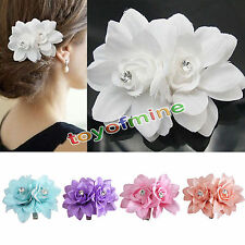 Fashion Wedding Bridal Crystal Flower Brooch Hair Pins Hair Clips Accessory Hot