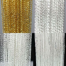 """Hot Slae 10/100X Gold/Silver Plated Filigree Metal Chain Charms Necklace 18.9"""""""