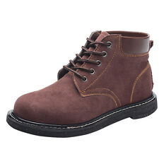 PAS Fashion Mens Work Boots High Top Steel Toe Safety Working Shoes Thicken Warm