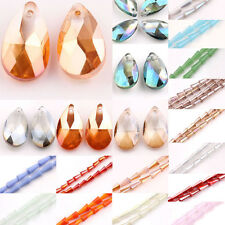 New Wholesale 3 Style Faceted Glass Crystal Point Teardrop Charms Pendant Beads