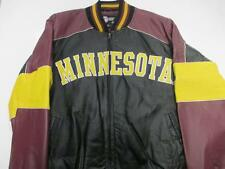 Minnesota Golden Gophers Mens Medium and Large Full Zip Leather Jacket UMG 1