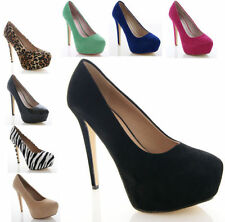 NEW LADIES WOMENS BNIB PLATFORM STILETTO HIGH HEEL COURT SHOES SIZE 3-8