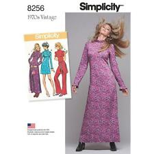 SIMPLICITY SEWING PATTERN MISSES 1970s VINTAGE DRESS IN 2 LENGTHS SIZE 6-22 8256