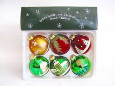 Set of 20 Vintage Style Christmas Glass Baubles Multi Coloured Brand New