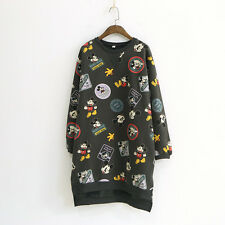 Fashion Women Japanese Forest Girl Mickey Pullover Thick Long Sweater Blouse Top