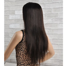 """Full Lace Wig Human Hair Front Lace Wig #2 Dark Brown 8""""-24"""" Remy Indian Hair"""