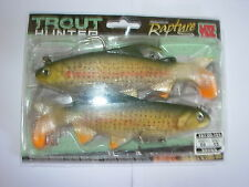 TRABUCCO TROUT HUNTER SOFT PLASTIC BROWN TROUT FISHING LURES 15cm