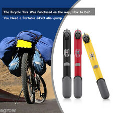 Mini Portable Bicycle Bike Air Pump Tyre Tire Ball Inflator with Pressure Gauge