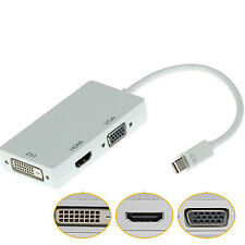 Mini DisplayPort DP to VGA HDMI DVI Converter Adapter Cable for MacBook Hot