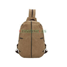 Unisex Canvas Travel Hiking Messenger Shoulder Back pack Sport Sling Chest Bag