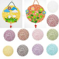 Wedding Xmas Hanging Decorations Round Paper Dinner Table Mat Placemats Kids DIY