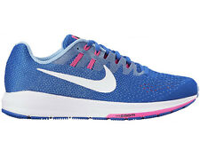 NEW WOMENS NIKE AIR ZOOM STRUCTURE 20 RUNNING SHOES TRAINERS HYPER COBALT / WHIT