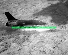 USAF F-100D Super Sabre Black n White Photo Military F 100 Vietnam War Veteran