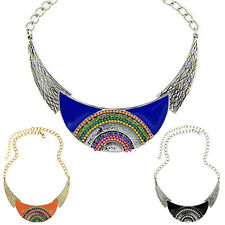 Charming women Ethnic Style Moon Pendant Leaf Choker Chain Necklace Jewelry Sale