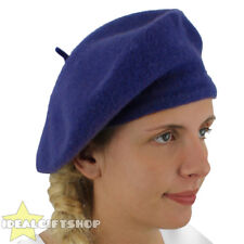 LADIES BLUE BERET VINTAGE FRENCH CAP FANCY DRESS COSTUME HAT FRENCH FASHION WARM