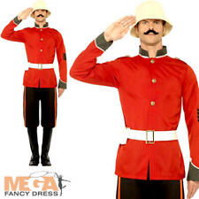 Boer War Soldier Mens Fancy Dress British Military Army Uniform Adults Costume