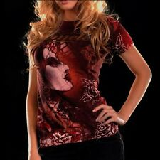 Remetee GYPSY Womens Top T-Shirt S M NWT NEW Red