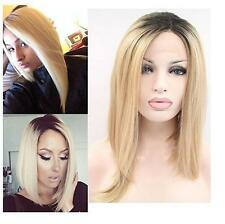 Women's Lace Front Wig Synthetic Blonde Ombre Wigs Heat Resistant Hair Cosplay