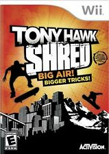 Wii Tony Hawk SHRED Video GAME ONLY skateboard sports nintendo COMPLETE skate