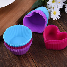 8pcs Silicone Cake Muffin Chocolate Cupcake Baking Cup Pan Mold Mould Bakeware