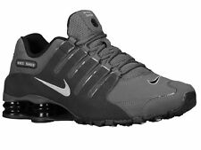CLASSIC MENS NIKE SHOX NZ RUNNING SHOES TRAINERS DARK GREY / ANTHRACITE / BLA
