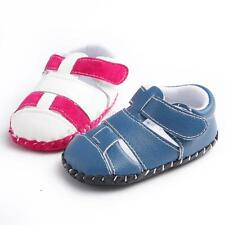Cute Toddler Baby Boy Girl Soft Sole Anti-slip Shoes Infant PU Leather Prewalker