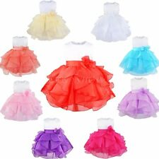 Christmas Baby Clothing Flower Girls Dress Party Pageant Wedding Birthday Party