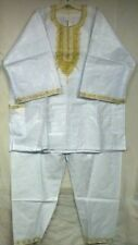 Traditional Ethnic Pant Suit African Clothing Men Pant Suit Brocade Outfit 1Size