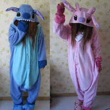 Adult Animal-- Kigurumi Pajamas Costume Cosplay pyjamas Blue Stitch angel lilo!
