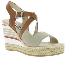 NEW U.S. POLO ASSN. Natasha Shoes Ladies Sandals Wedge heel sandal Brown