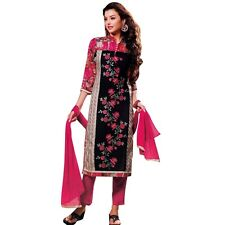 Designer Elegant Embroidery Cotton Salwar Kameez Readymade India-Venee-HR-2501-A