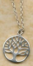 REAL 925 sterling silver tree of life pendant / charm on 14 16 18 20 trace chain