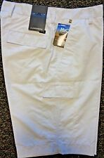 MENS J LINDEBERG LAWRENCE Regular Fit Micro Twill Flat Front Golf SHORTS, WHITE