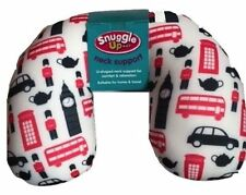 SNUGGLE Microbead Squishy Travel Holiday Pillow Cosy U Neck Support Cushion BNWT