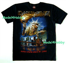IRON MAIDEN T-Shirt Black S M L XL SOMEWHERE BACK IN TIME HM STATUE OF LIBERTY