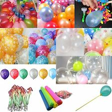 Dot Latex Balloons Water Magic Bombs Holders Stick LED For Wedding Party Decor