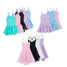 Double Strap Leotard Ballet Dance Multi Colors Chiffon Skirt Summer Dance Wear