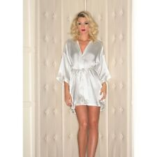 Be Wicked Sexy White Satin Robe Bridal Wedding Bride to Be BEWICKED