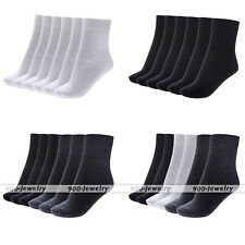 6 Pairs Men's Crew Socks Winter Soft Cotton Office Business Dress Sock Casual EE