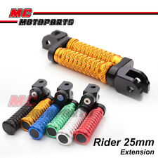 """M-Grip CNC 1"""" Adjustable Riser Front FootPegs for Triumph Speed Triple 955i 00+"""