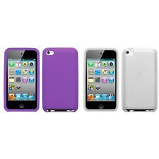 For Apple iPod Touch 4th Gen Silicone Skin Rubber Soft Case Phone Cover