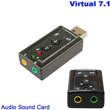 HOT Mini USB 2.0 3D Virtual 12Mbps External 7.1 Channel Audio Sound Card Adapter